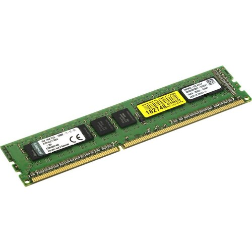 Модуль памяти Kingston ValueRAM LV DDR3 ECC DIMM 4 Гб PC3-12800 1 шт. (KVR16LE11S8 / 4)